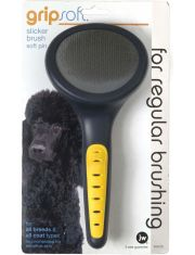 Щетка-пуходерка для собак и кошек Grip Soft Slicker Brush