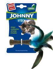 Johnny Stick Прессованная кошачья мята с пером игрушка для кошек