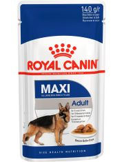 Maxi Adult кусочки в соусе для собак крупных размеров (вес собаки от 25 до 45 кг) в возрасте c 15 месяцев до 8 лет