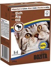 Кусочки в желе для кошек c лосем