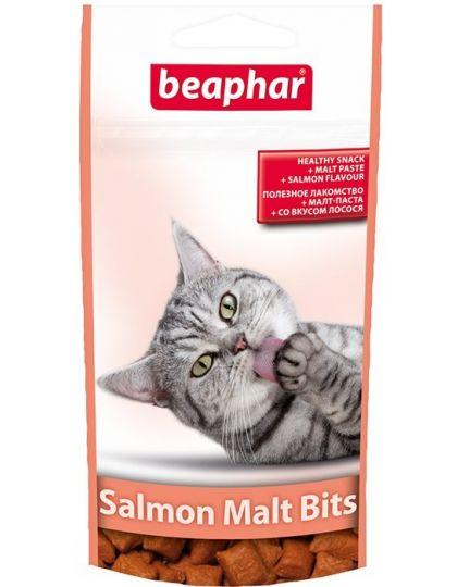 Salmon Malt Bits подушечки для выведения шерсти из желудка у кошек лосось