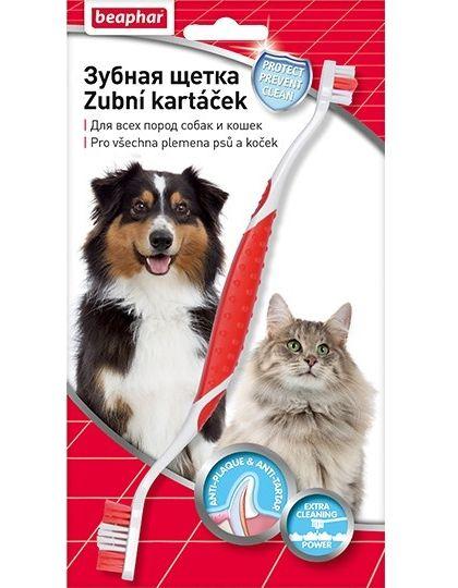 Toothbrush зубная щетка двойная на блистере для всех пород собак и кошек