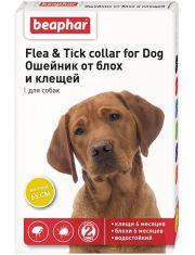 Ошейник от блох и клещей для собак желтый