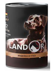 Полноценный сбалансированный влажный корм для собак всех пород индейка с уткой