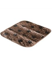 Пелёнка впитывающая многоразовая коричневая 53*53 см