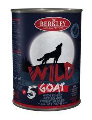Wild Goat полноценный сбалансированный консервированный корм  для собак и щенков с козой, сельдереем, яблоками и лесными ягодами