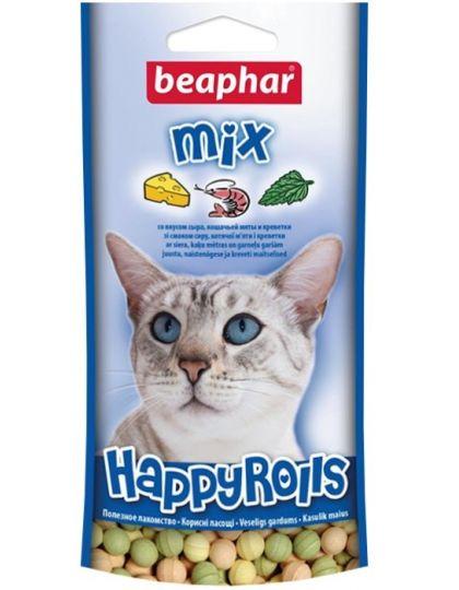Лакомство Happy Rolls Mix с креветками, сыром и кошачьей мятой для кошек