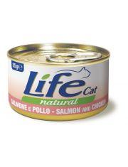 Консервы для кошек лосось с курицей в бульоне