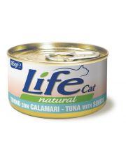 Консервы для кошек тунец с кальмаром в бульоне
