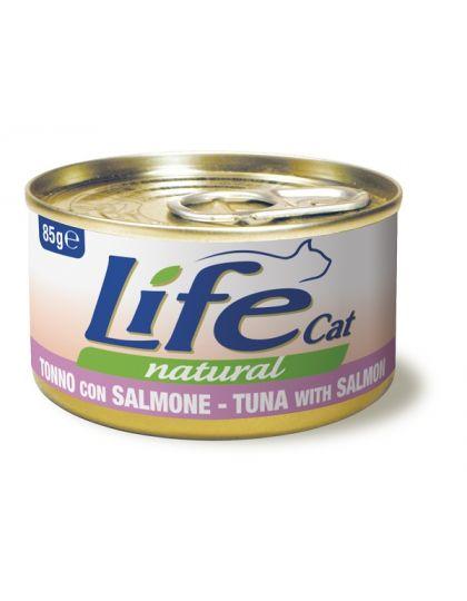 Консервы для кошек тунец с лососем в бульоне