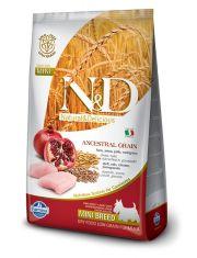 N&D Chicken & Pomegranate Adult Mini  низкозерновой корм для собак малых пород,курица и гранат