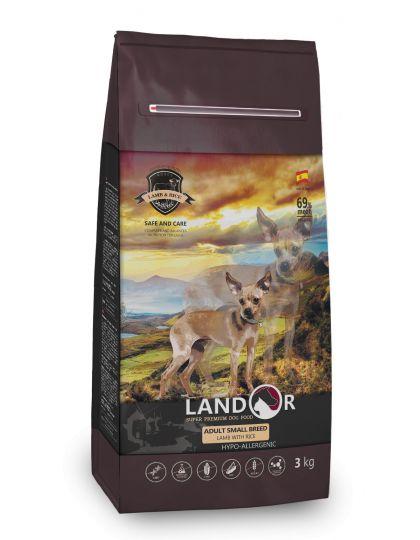 Полнорационный сухой корм для взрослых собак мелких пород ягненок с рисом
