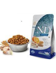Natural & Delicious Ocean Cod, Spelt, Oats & Orange Adult  полнорационный сбалансированный низкозерновой корм для кошек с треской и апельсином (спельта, овес, треска, апельсин)