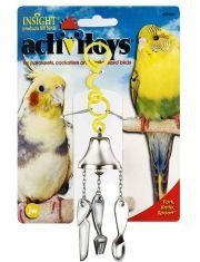 Вилка ножик ложка на колокольчике игрушка для птиц