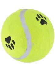 """""""Мячик теннисный с отпечатками лап"""" игрушка для собак"""