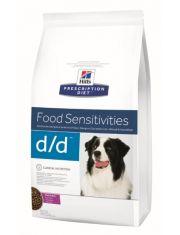 Prescription Diet d/d диета для собак, лечение пищевых аллергий утка/рис