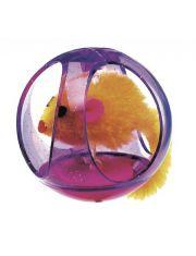 Мышка в пластиковом шарике  для кошек