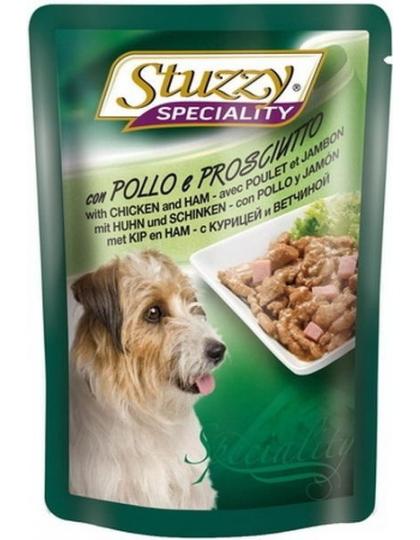 STUZZY SPECIALITY DOG консервы для собак с курицей и ветчиной