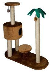 Комплекс круглый, домик на ножках с подстав и когтеточка пальма
