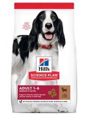 Science Plan для взрослых собак средних пород с ягненком и рисом