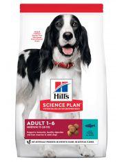 Hill's Science Plan Advanced Fitness сухой корм для собак мелких и средних пород от 1 до 7 лет для повседневного питания с тунцом и рисом