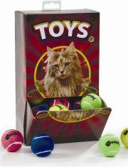 Мяч теннисный с колокольчиком игрушка для кошек