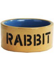 Миска керамическая для кролика бежево-голубая