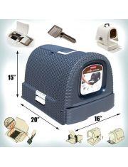 Туалет-домик для кошек с выдвижным лотком 51*39*40 см