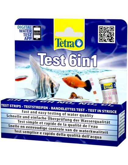 Tetra Test 6in1 полоски для пресной воды 25 шт