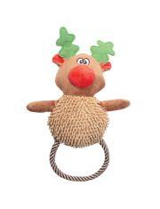 """""""Рождественский олень с веревкой"""" игрушка для собак"""