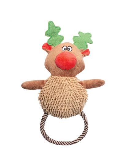 Рождественский олень с веревкой игрушка для собак