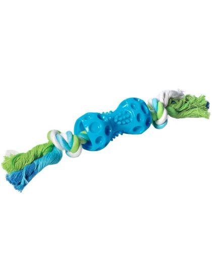 Гантель с верёвкой игрушка для собак