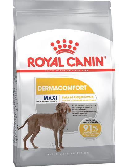 Maxi Dermacomfort для взрослых и стареющих собак крупных размеров при раздражениях и зуде кожи, связанных с повышенной чувствительностью