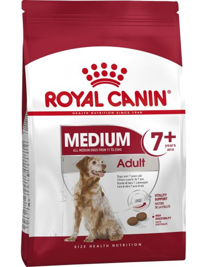 Medium Adult 7+ для стареющих собак средних размеров вес собаки от 11 до 25 кг в возрасте 7 лет и старше