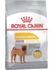 Medium Dermacomfort полнорационный сухой корм для взрослых и старше 12 месяцев и стареющих собак средних размеров вес собаки от 11 до 25 кг. рекомендуется при раздражениях и зуде, связанных с повышенной чувствительностью кожи