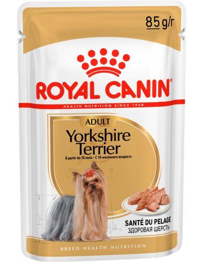 Yorkshire Terrier паштет для собак породы йоркширский терьер старше 10 месяцев