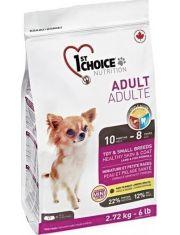 Для взрослых собак декоративных и мелких пород, здоровье кожи и шерсти ягненок и рыба