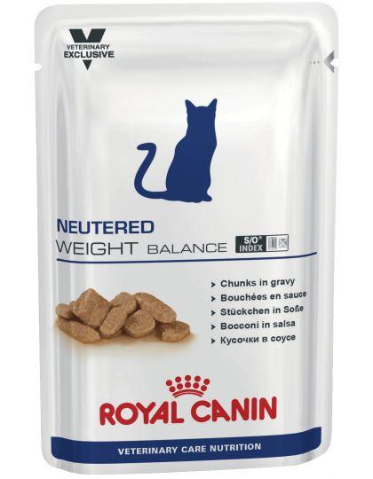 Neutered Weight Balance кусочки в соусе (диета) для кастрированных/стерилизованных котов и кошек с момента операции до 7 лет, склонных к избыточному весу