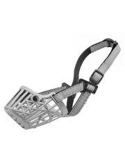 Намордник пластиковый №1 ZооM серия Silver Reflex, светоотражающий, металлик (шпиц)