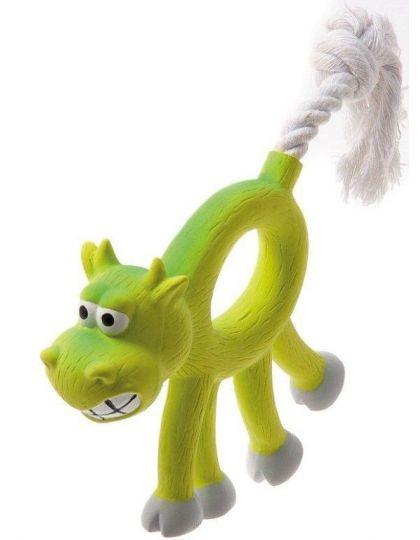 Корова с канатным хвостом игрушка для собак