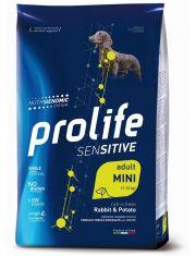 Sensitive Adult Rabbit & Potato Mini полнорационный корм со свежим мясом кролика и картофелем для взрослых собак мелких пород, с чувствительным пищеварением