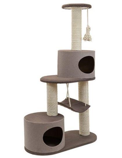 Комплекс-когтеточка Хайтек 4-х уровневый с 2-мя домиками и гамаком