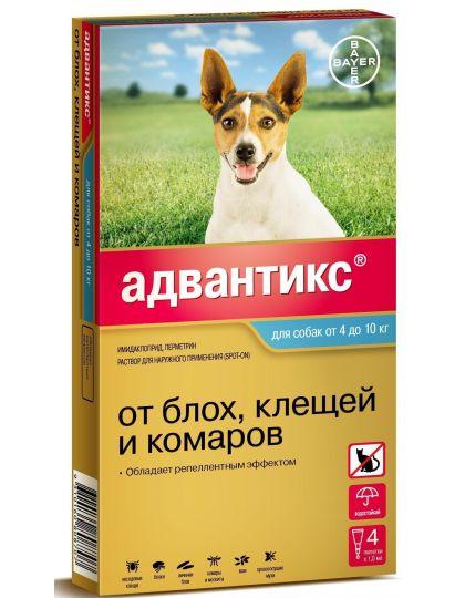 Адвантикс капли на холку для собак от 4 до 10 кг