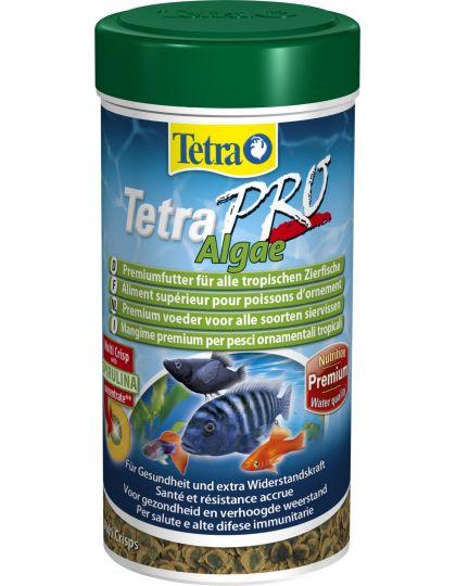 Корм для всех видов декоративных рыб Tetra Pro Algaeв виде чипсов 250 мл