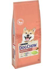 Adult для взрослых собак с чувствительным пищеварением, с лососем