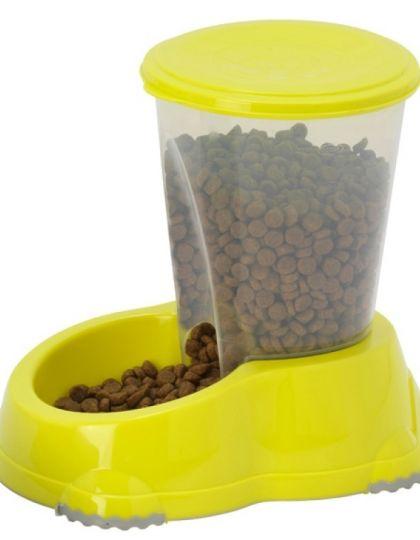 Smart snacker автокормушка для животных, лимонно-желтый