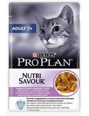 Adult 7+ для кошек старше 7 лет, с индейкой в соусе
