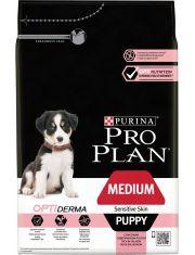 Medium Puppy Sensitive Skin с комплексом Optiderma корм для щенков средних пород с чувствительной кожей, лосоь/рис