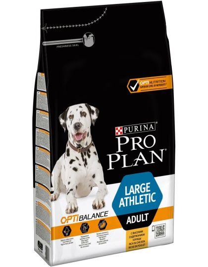 Large Adult Athletic с комплексом OPTIBALANCE корм для взрослых собак крупных пород с атлетическим телосложением, курица/рис