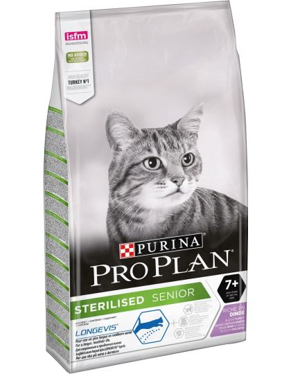 Sterilized 7+ для стерилизованных кошек и кастрированных котов старше 7 лет, с индейкой